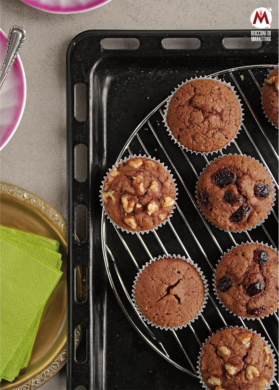 Tris di muffin al cioccolato